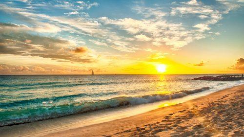 Barbados Beach at Sunset